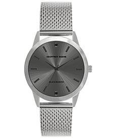 Geoffrey Beene Men's Silver-tone Mesh Strap Watch, 40 mm