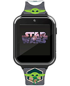 Accutime Kid's Star Wars Baby Yoda Gray Silicone Strap Smart Watch 46x41mm