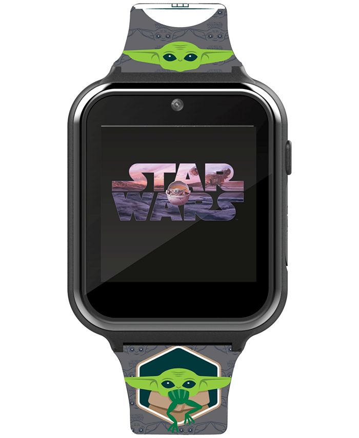 Accutime - Kid's Star Wars Gray Silicone Strap Smart Watch 46x41mm