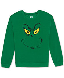 Love Tribe Juniors' Grinch Crewneck Sweatshirt