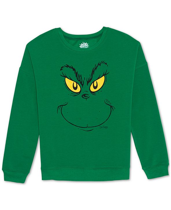 Love Tribe Juniors' Grinch Crewneck Sweatshirt