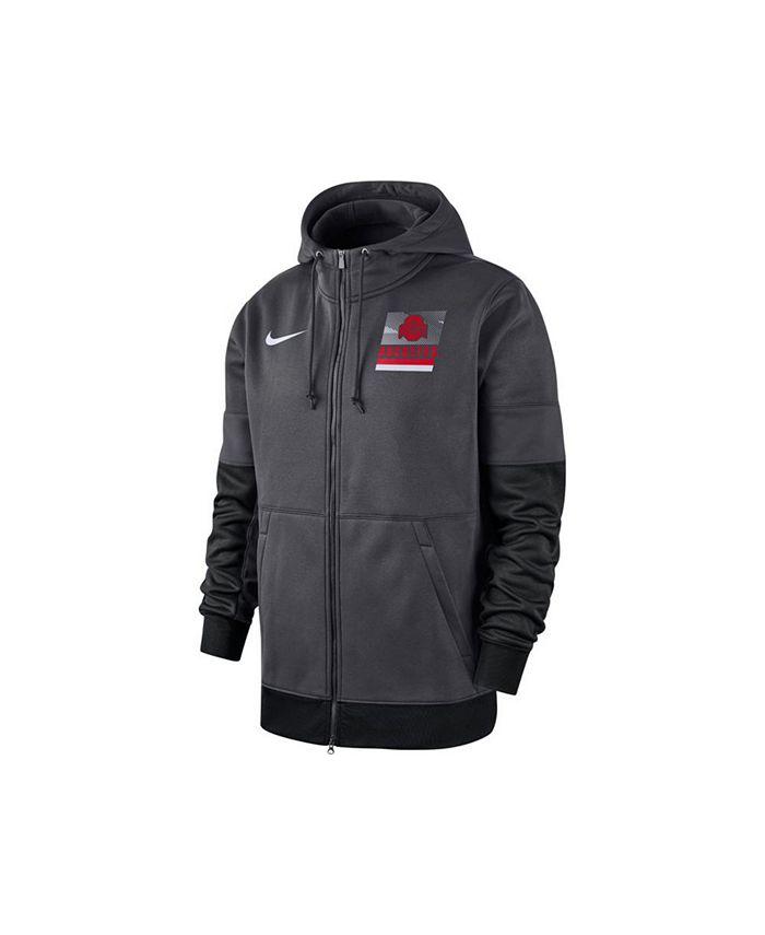 Nike - Ohio State Buckeyes Men's Therma Full Zip Hooded Sweatshirt Jacket