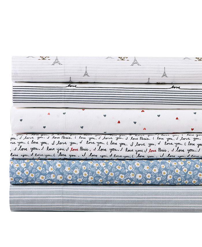 Ed Ellen Degeneres Augie In Paris Percale Queen Sheet Set Reviews Sheets Pillowcases Bed Bath Macy S