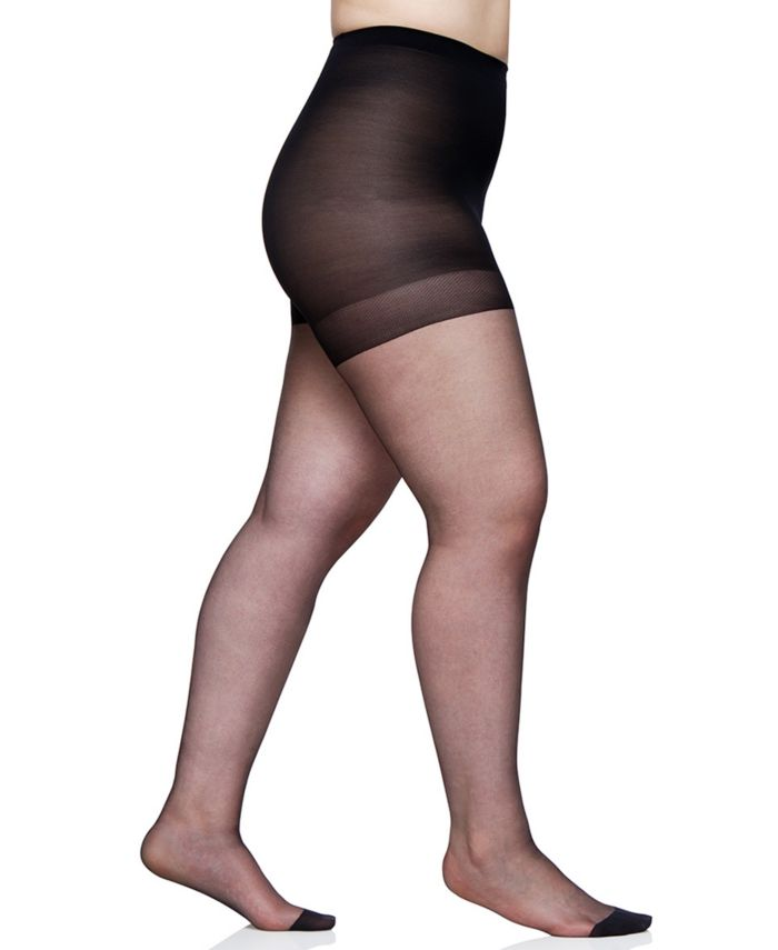 Berkshire Plus Size Ultra Sheer Control Top with Reinforced Toe Hosiery 4418 & Reviews - Handbags & Accessories - Macy's