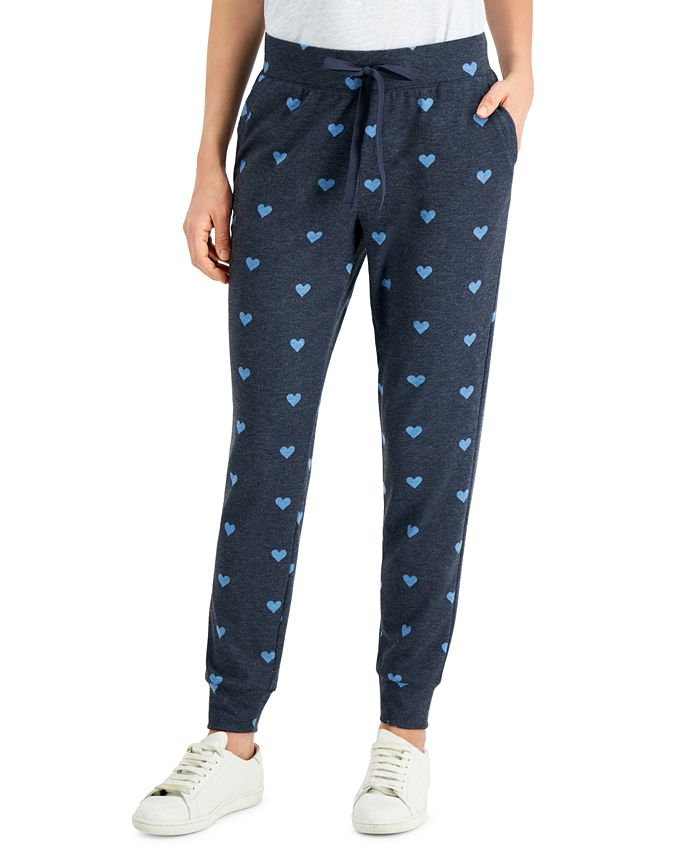 Style & Co - Heart-Print Jogger Pants