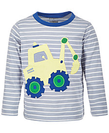 First Impressions Baby Boys Digger Long-Sleeve Cotton T-Shirt, Created for Macy's