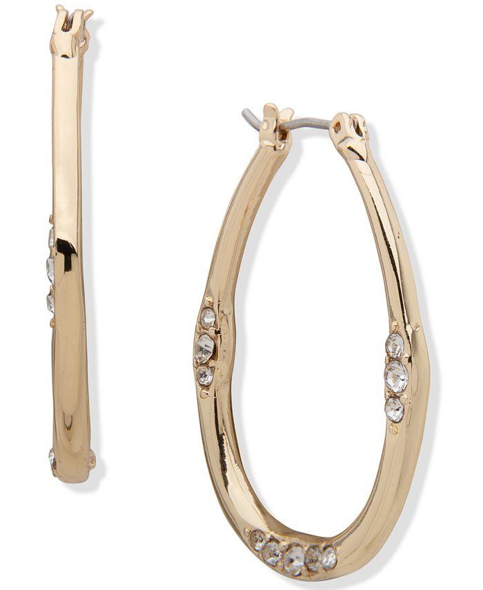 """Anne Klein - Gold-Tone Medium Hoop Earrings, 1.32"""""""
