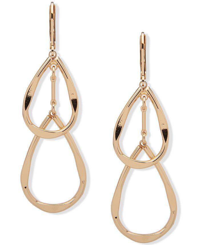 Anne Klein - Gold-Tone Double Teardrop Earrings