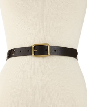 Style & co. Belt, Plus Size Metallic Perforated