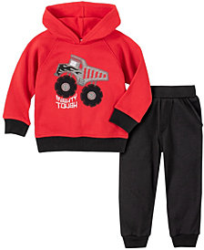 Kids Headquarters Baby Boys Dump Truck Pullover Fleece Pant Set