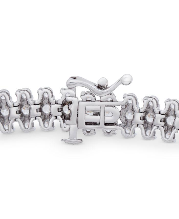 Macy's Diamond Triple Row Tennis Bracelet (10 ct. t.w.) in 14k White Gold & Reviews - Bracelets - Jewelry & Watches - Macy's