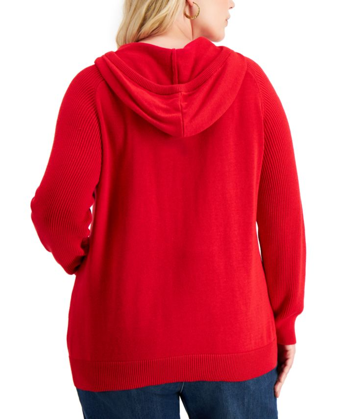 Style & Co Plus Size Solid Hoodie, Created for Macy's  & Reviews - Sweaters - Plus Sizes - Macy's