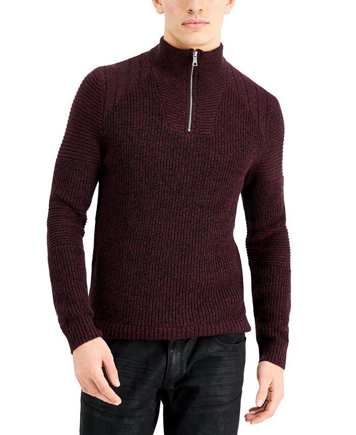 INC International Concepts - Men's Quarter-Zip Sweater