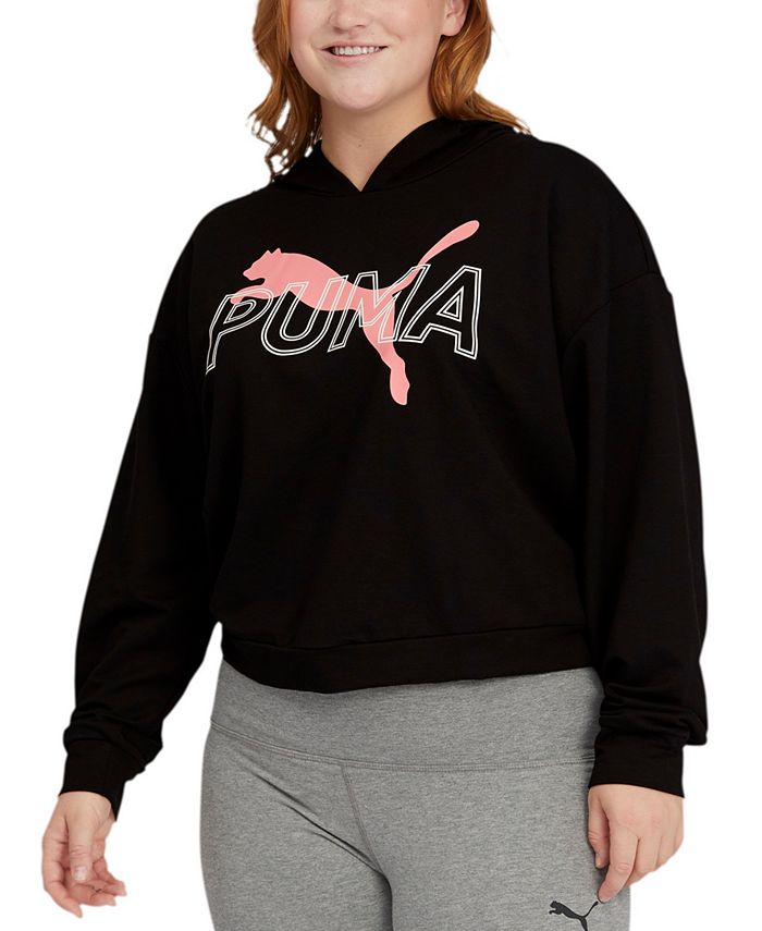 Puma - Plus Size Modern Sports Hooded Sweatshirt