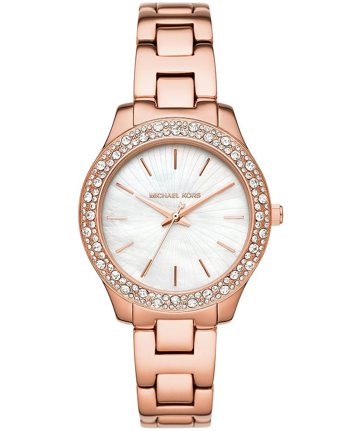 Michael Kors - Women's Liliane Rose Gold-Tone Stainless Steel Bracelet Watch 36mm MK4557