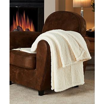 Victoria Classics Fireside Sherpa Throw