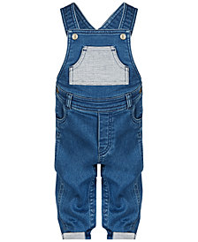 First Impressions Baby Boys Denim Overalls, Created for Macy's