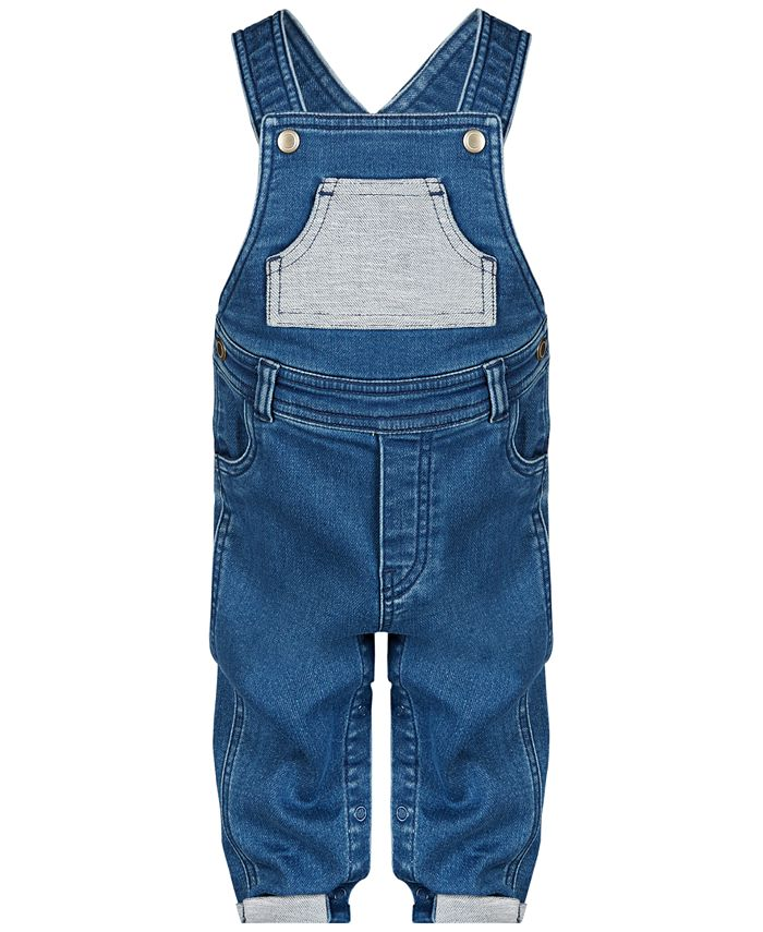First Impressions - Baby Boys Denim Overalls