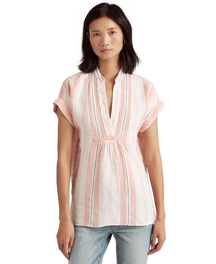 Lauren Ralph Lauren - Linen Striped Top