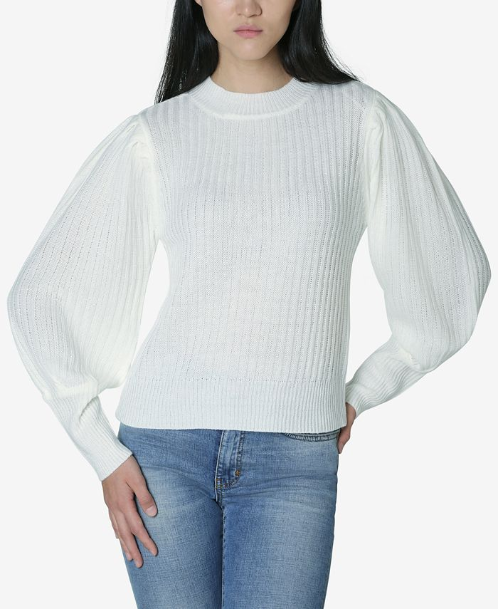 Ultra Flirt - Juniors' Puff-Sleeved Sweater