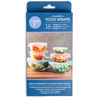 Deals on Core Home Reusable Clear Silicone Food Wraps Set of 6