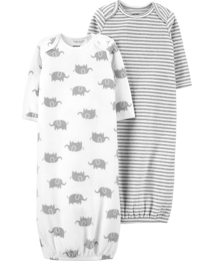 Carter's - Carters Baby Boy or Girl 2-Pack Sleeper Gowns