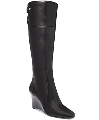 nine west xpert wedge boots shoes macy s