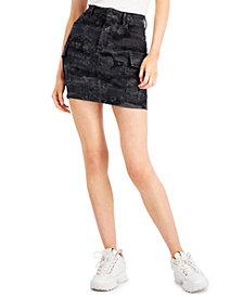 GUESS Cargo Denim Mini Skirt