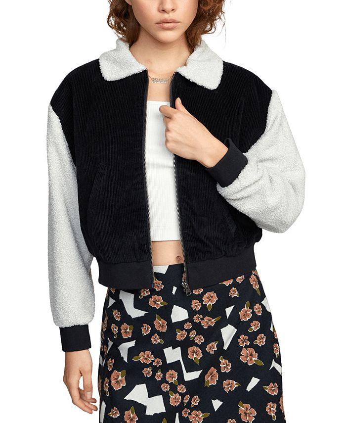 RVCA - Juniors' Fleece & Corduroy Jacket