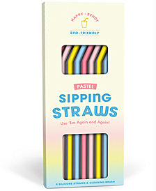 Knock Knock Pastel Reusable Sipping Straws