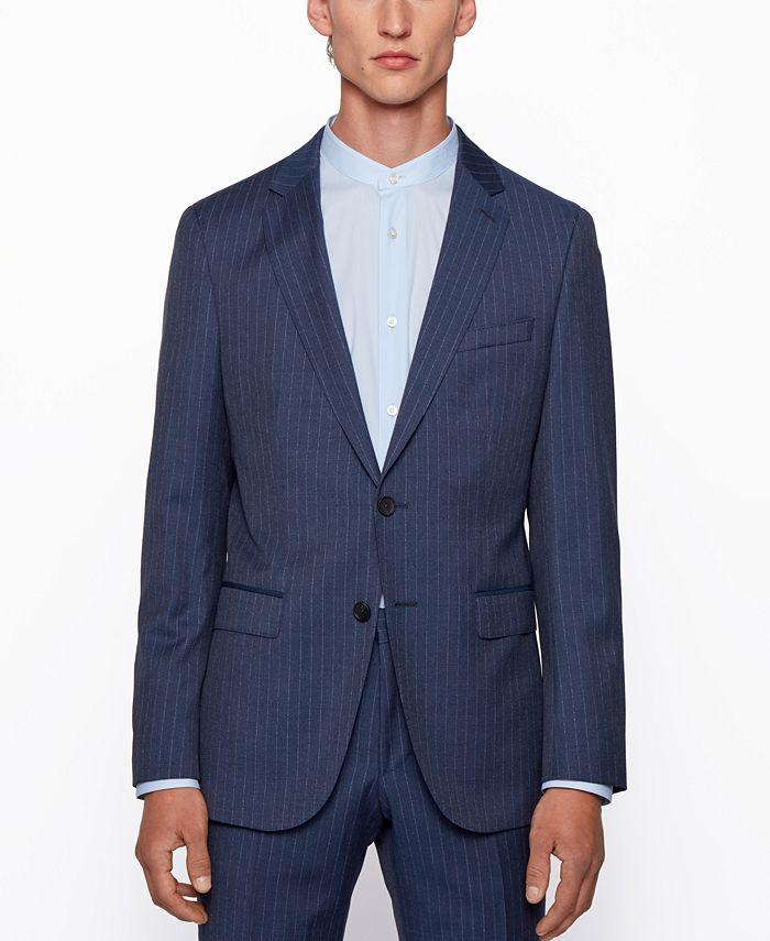 Hugo Boss - Men's Novan6/Ben2 Pinstripe Slim-Fit Suit