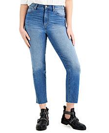Celebrity Pink Juniors' High-Rise Raw-Hem Slim-Straight Jeans