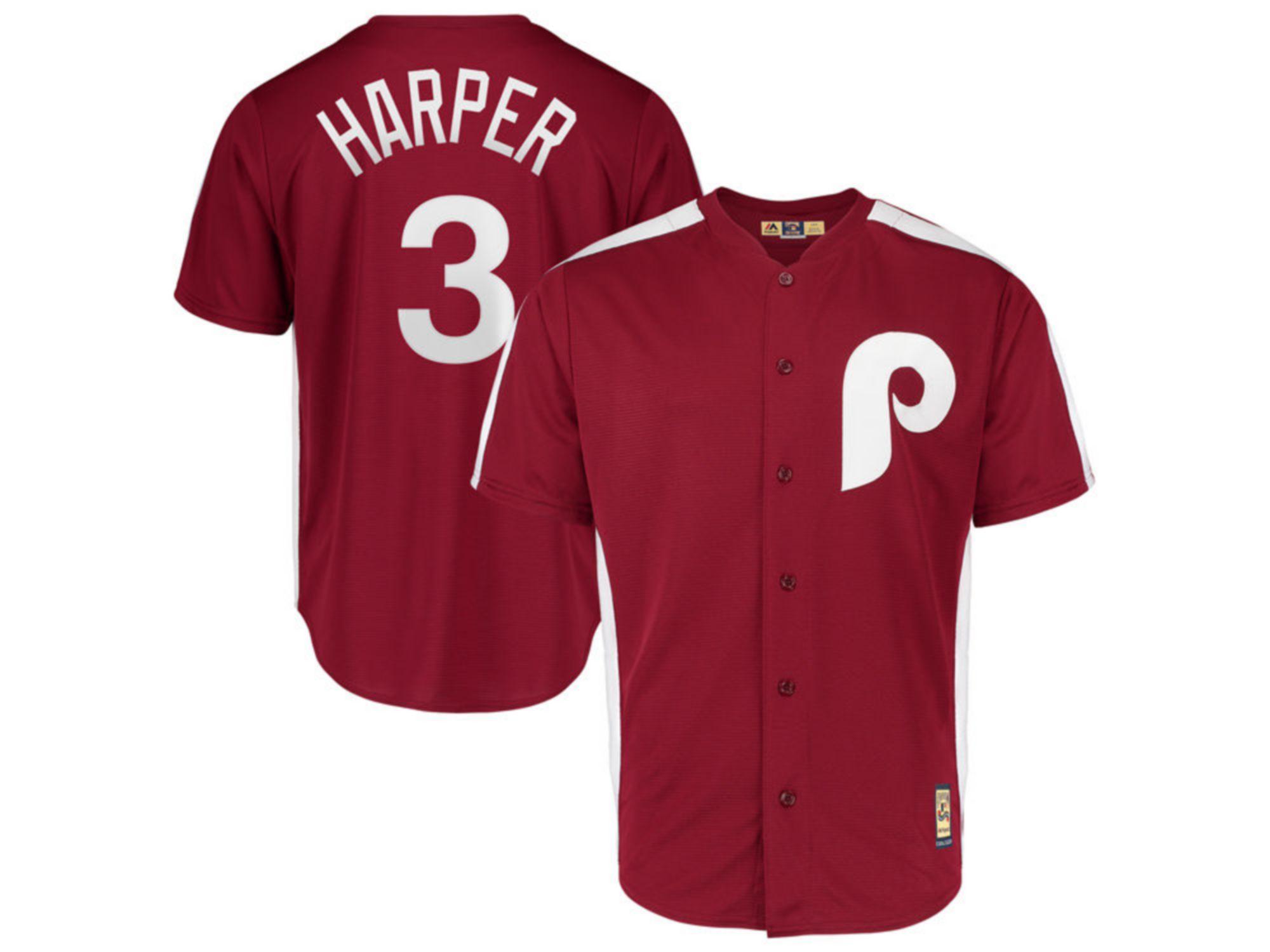 Majestic Philadelphia Phillies Men's Cooperstown Player Replica Cool Base Jersey Bryce Harper & Reviews - MLB - Sports Fan Shop - Macy's