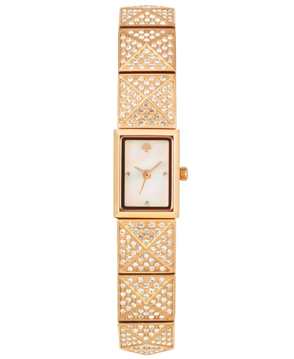 kate spade new york Watch, Womens Cobble Rose Gold Tone Pyramid Stud Bangle Bracelet 10mm 1YRU0276   Watches   Jewelry & Watches