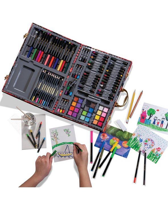 FAO Schwarz Kids Art Studio Portable with Chipboard Case 127pc