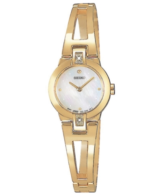 Seiko Watch, Women's Goldtone Bangle Bracelet SUJ708