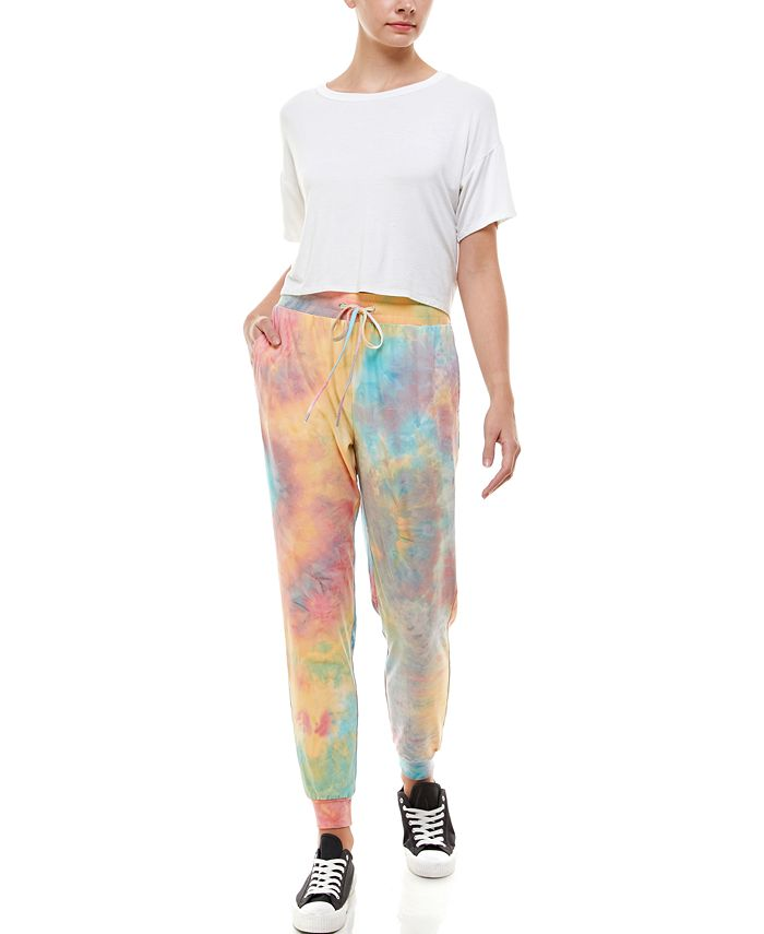 Derek Heart - Juniors' Tie-Dyed Slim Jogger Pants