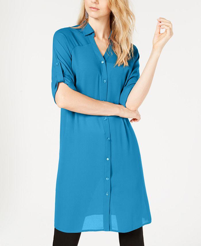 Alfani - Striped Tunic Shirt