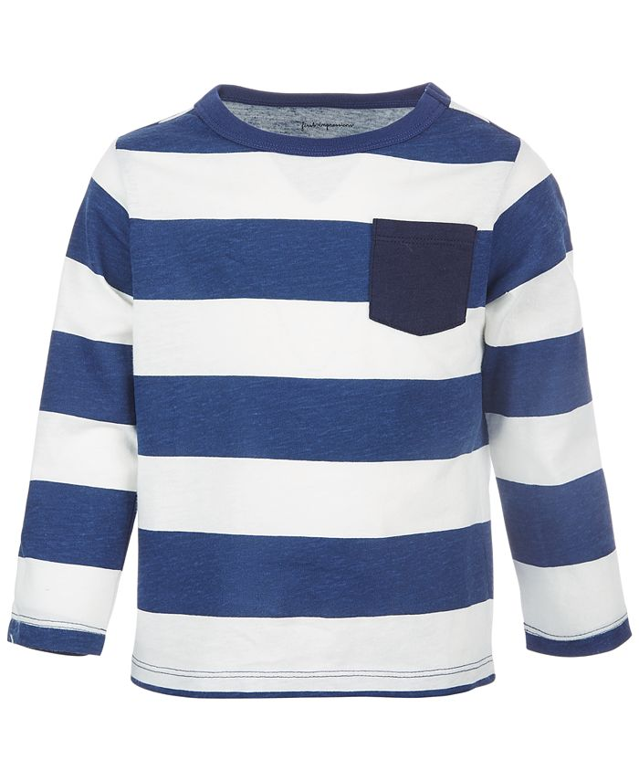 First Impressions - Baby Boys Rugby Stripe Cotton T-Shirt
