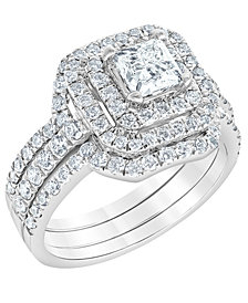 Diamond Bridal Ring Set (2 ct. t.w.) in 14K White Gold