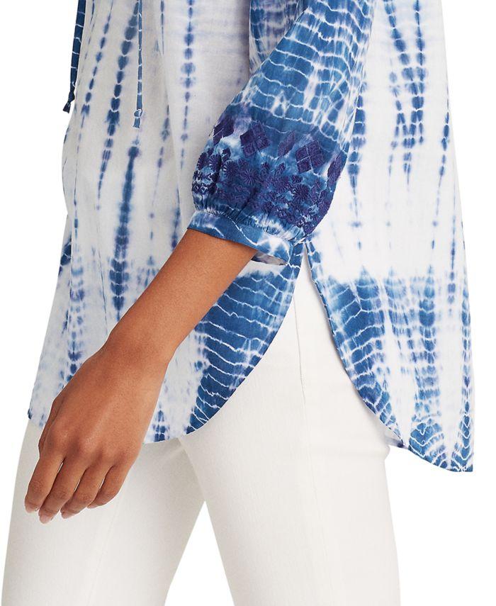 Lauren Ralph Lauren Tie-Dye Raglan-Sleeve Top  & Reviews - Tops - Women - Macy's