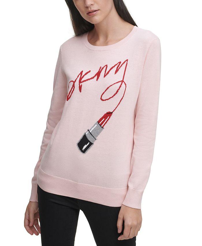 DKNY - Lipstick Logo Sweater