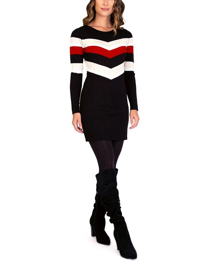 BCX - Juniors' Long-Sleeve Sweater Dress