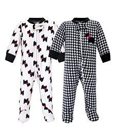 Hudson Baby Boys and Girls Fleece Sleep and Play
