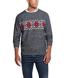 Men's Crew Neck Snowflake Sweater