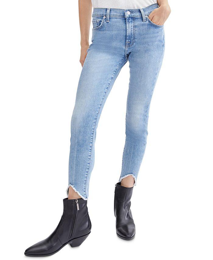7 For All Mankind - Raw-Hem Skinny Jeans