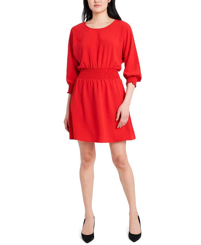 MSK - Smocked Fit & Flare Dress