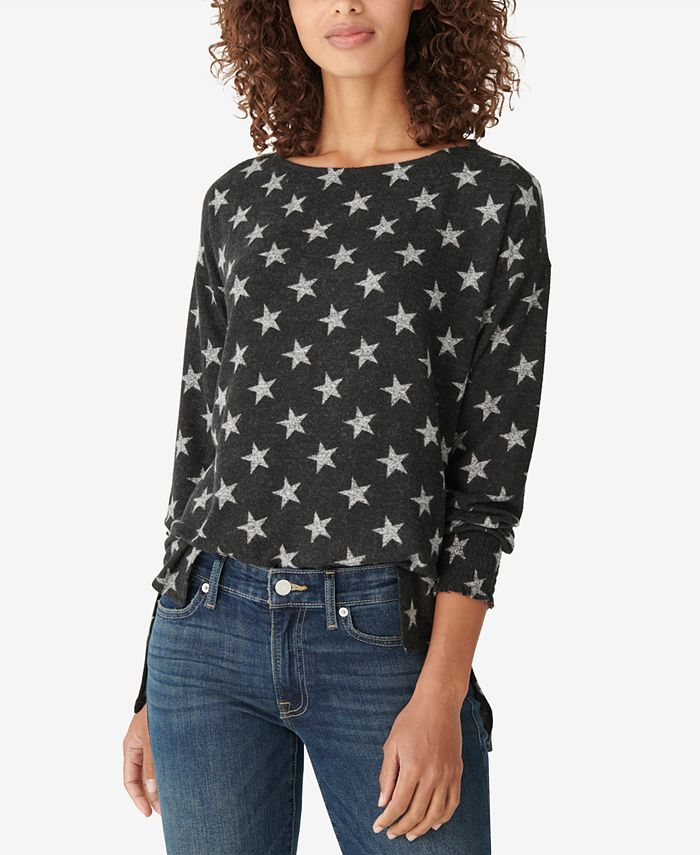 Lucky Brand - Printed Jersey Tunic Top