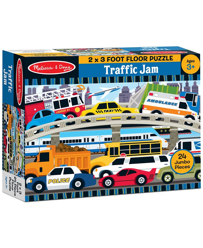 Melissa and Doug - Kids Toy, Traffic Jam 24-Piece Floor Puzzle