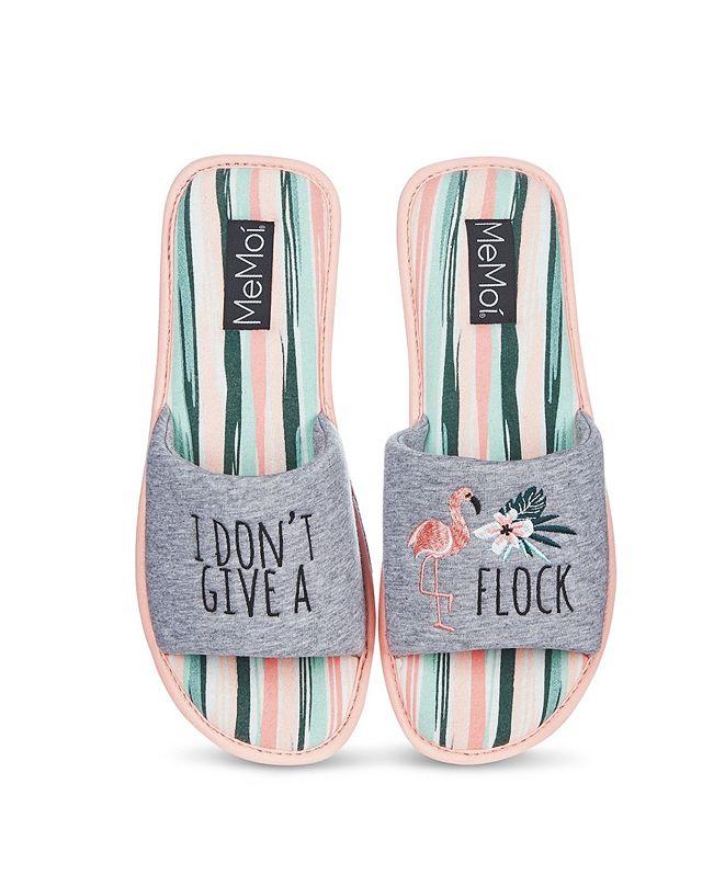 MeMoi I Don't Give A Flock Open-Toe Women's Slippers